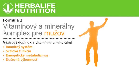 Multivitaminovy komplex Herbalife pre mužov . fakty